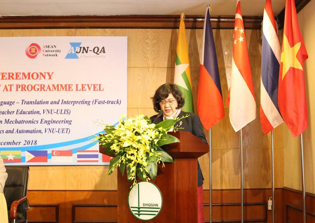 GS. Nantana Gajaseni phát biểu tại lễ khai mạc